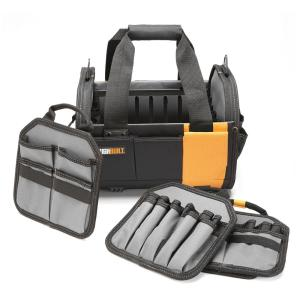 12 in. Modular Tote with 61-Pockets in Black