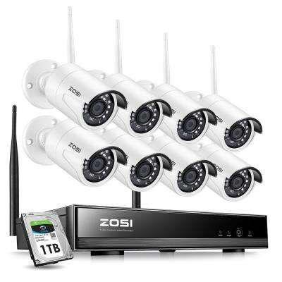8-Channel 1080p 1TB NVR Security Camera System with 8-Wireless Bullet Cameras