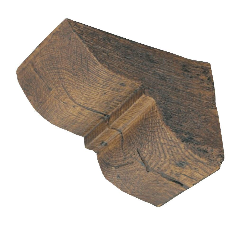 4 1 4 In X 4 1 4 In X 5 3 4 In Prefinished Polyurethane Rustic Faux Wood Corbel M 12 The