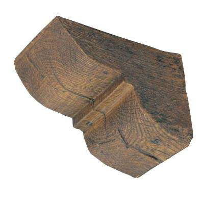 4-1/4 in x 4-1/4 in. x 5-3/4 in. Prefinished Polyurethane Rustic Faux Wood Corbel