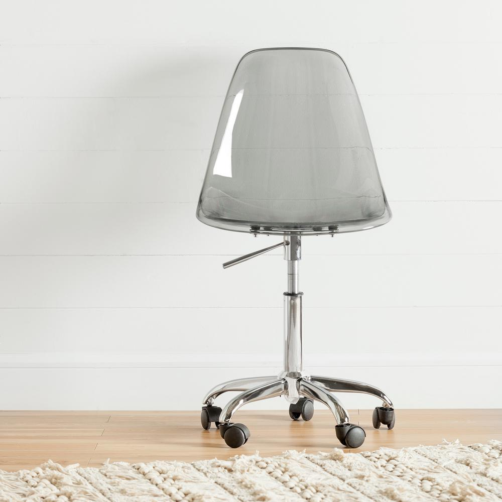 South Shore Annexe Clear Smoked Gray Acrylic Office Chair...