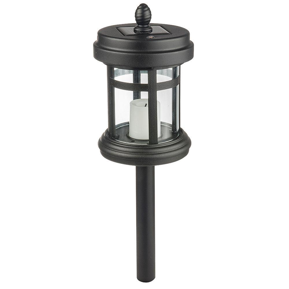 Solar Black Outdoor Integrated LED Cast Aluminum Landscape Path Light with