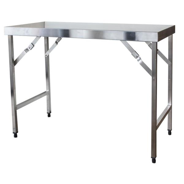 48 in. x 24 in. Stainless Steel Portable Folding Workbench