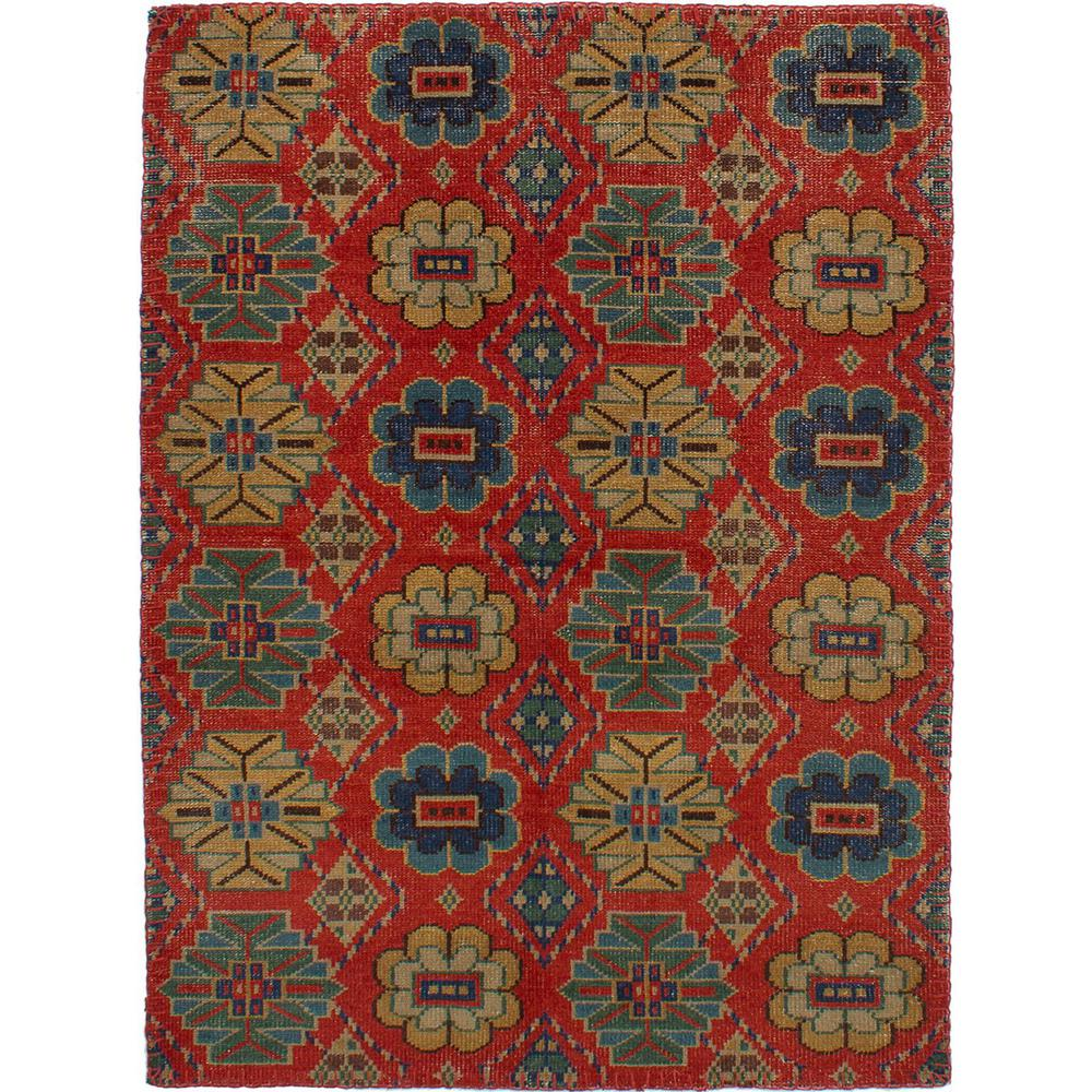 Ecarpet Gallery Mystique Red 5 Ft 1 In X 7 Fl Area Rug