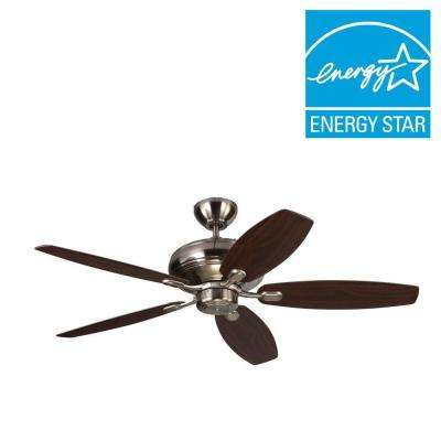 Centro Max 52 in. Brushed Steel Silver Ceiling Fan