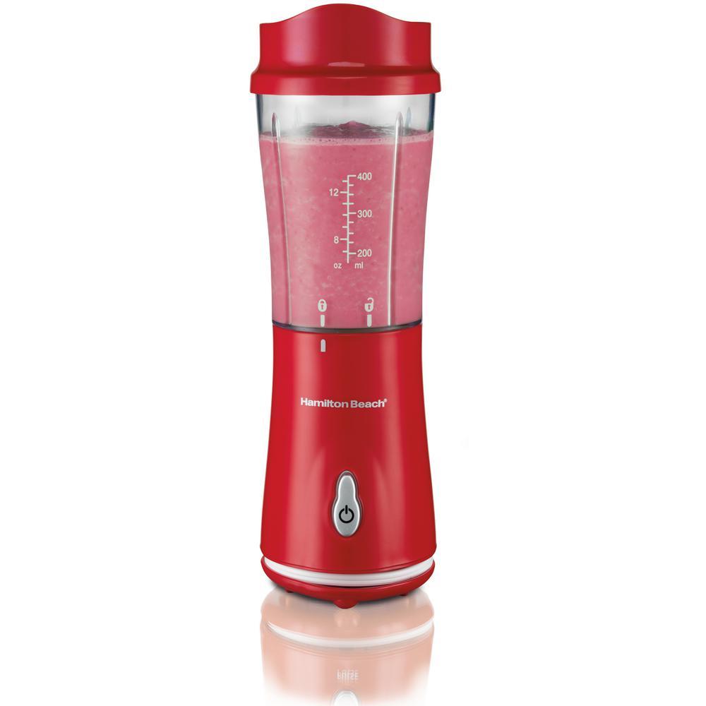 14 oz. Red Single Speed Single Serve Blender with Plastic Jar