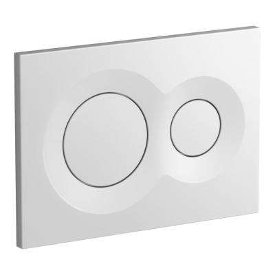 Lynk Flush Actuator Plate for Veil In-Wall Tank in White