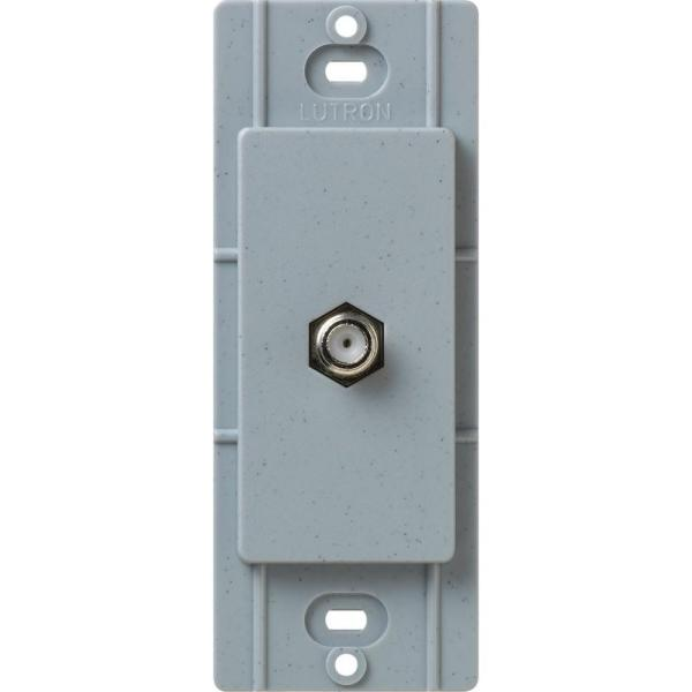 Satin Colors Coaxial Cable Jack - Bluestone