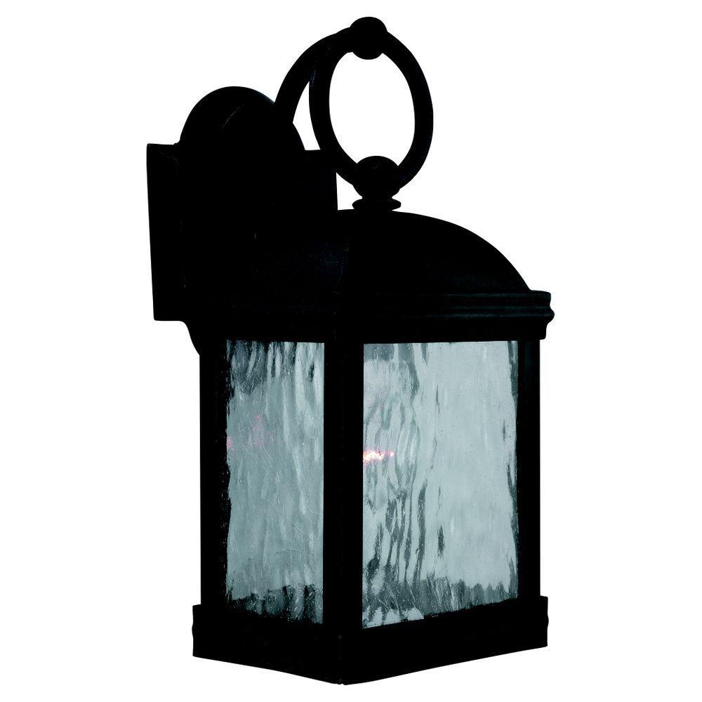 Sea Gull Lighting Branford 1-Light Obsidian Mist Outdoor Wall Fixture