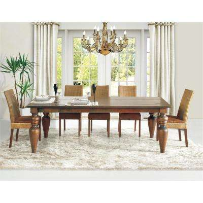 Flower 79 in. Cinnamon Dining Table