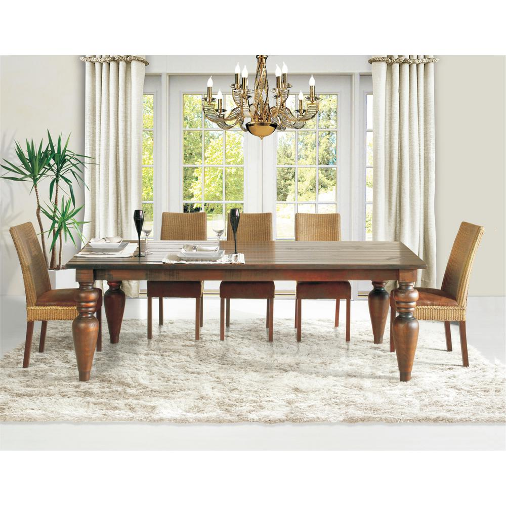 Flower 94 in. Cinnamon Dining Table