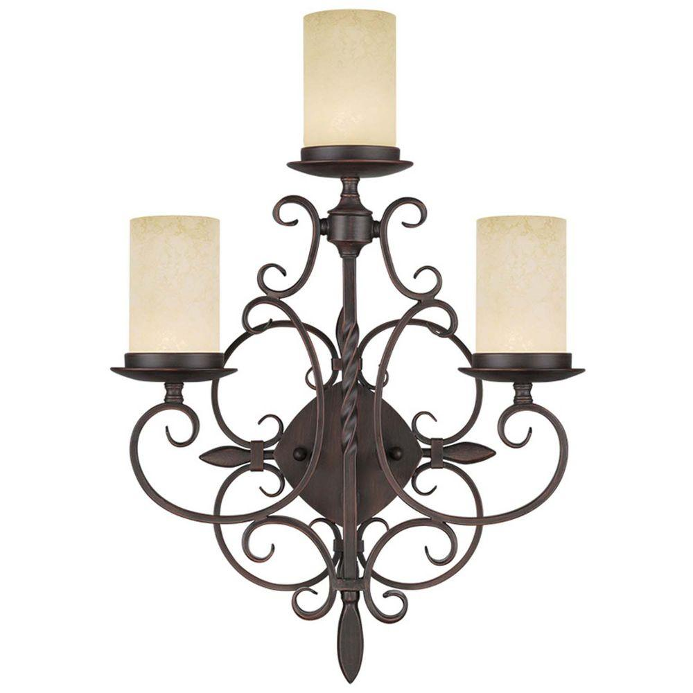 Livex Lighting Providence 3-Light Imperial Bronze Incandescent Wall Sconce