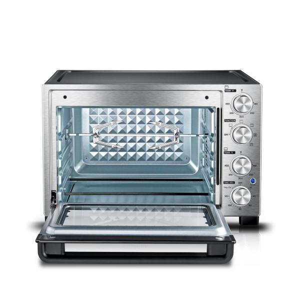 Toshiba 1500 W 12-Slice Stainless Steel Convection Toaster Oven with Broiler