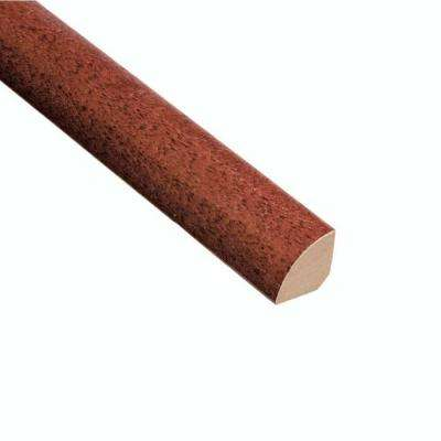 High Gloss Santos Mahogany 3/4 in. Thick x 3/4 in. Wide x 94 in. Length Hardwood Quarter Round Molding