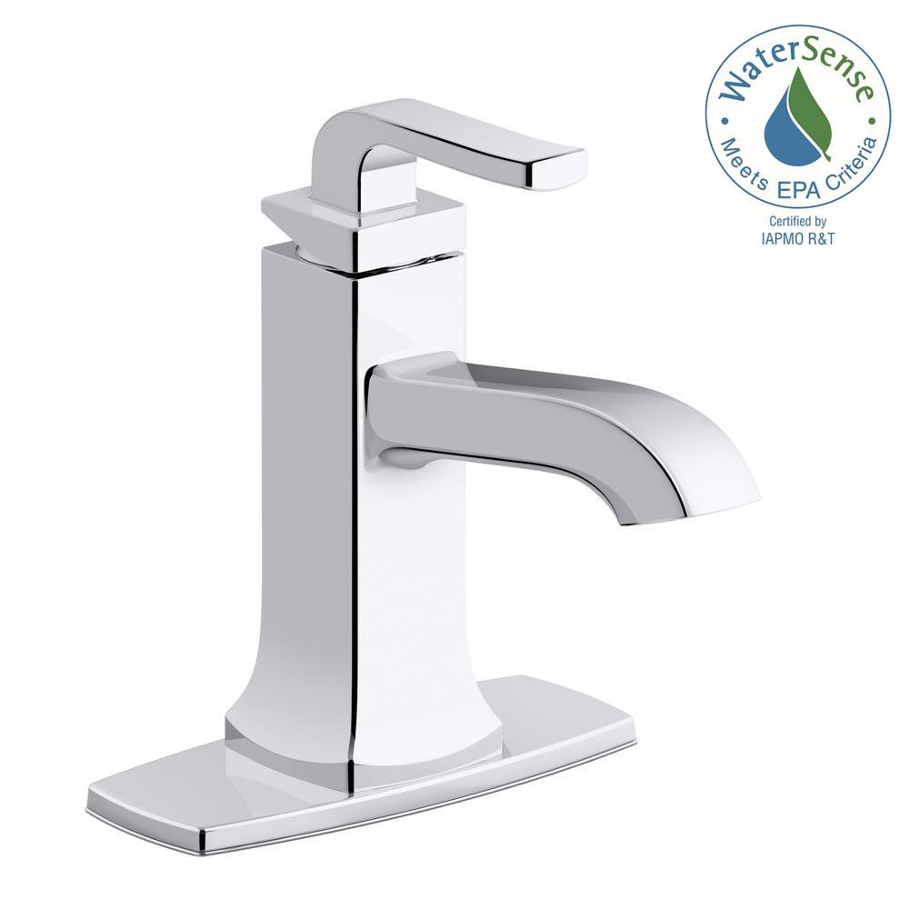 KOHLER Rubicon Single Hole Single-Handle Bathroom Faucet in Polished ...