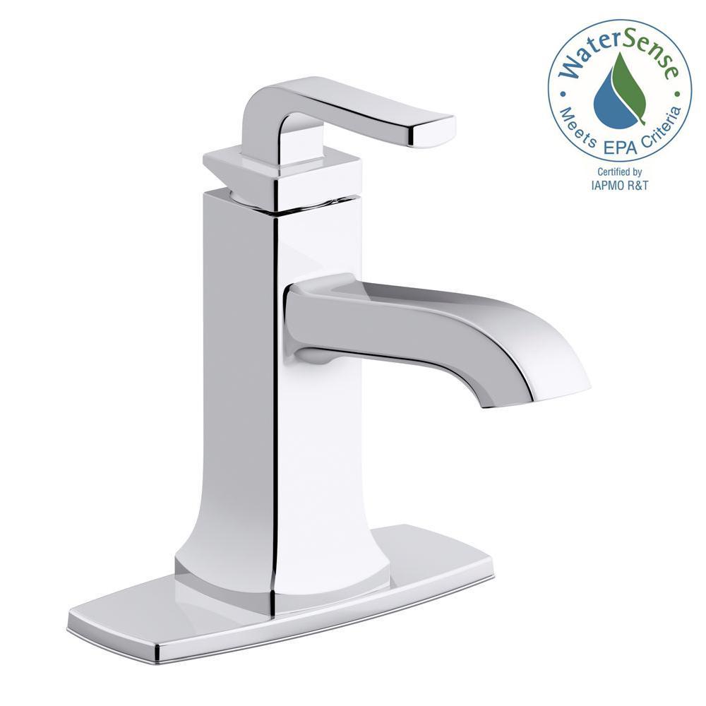 Rubicon Single Hole 1-Handle Bathroom Faucet in Polished Chrome