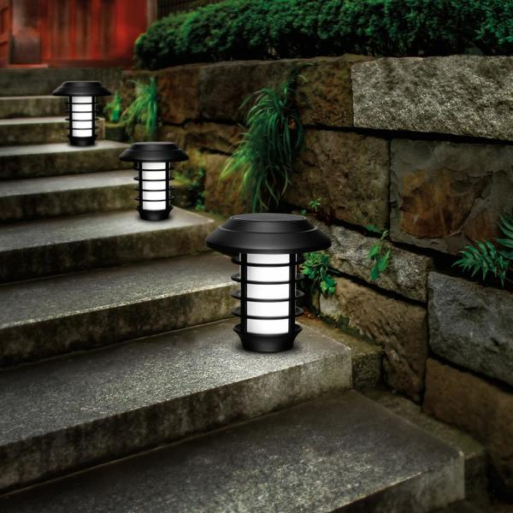 Bell Howell Solar Powered 2 Modes 21 Lumen Led Landscape Lighting Pathway Lights Set Of 4 2905 The Home Depot