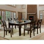 Furniture of America Carpenter Brown Cherry Leatherette X-Side Chair (Set of 2)