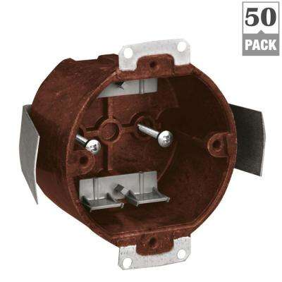 3-1/2 in. Old Work Round Fixture Outlet Box (Case of 50)