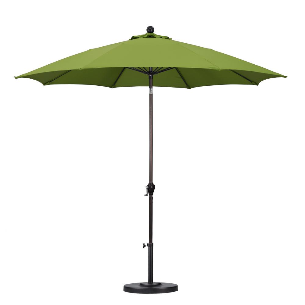 Superbe California Umbrella 9 Ft. Fiberglass Push Tilt Patio Umbrella In Lime Green  Polyester