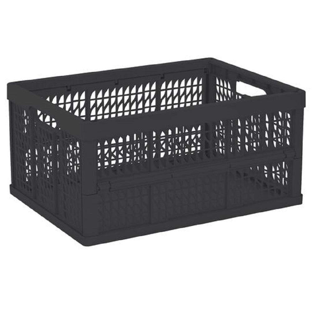 gsc technologies 11 in x 13 in x 13 in black milk crate mc131311 002 the home depot. Black Bedroom Furniture Sets. Home Design Ideas