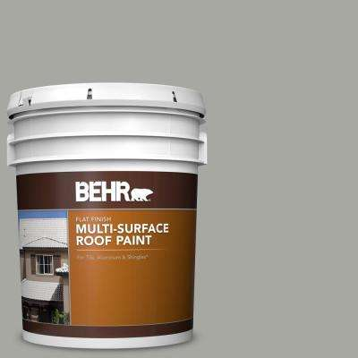 5 gal. #PFC-68 Silver Gray Flat Multi-Surface Exterior Roof Paint
