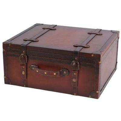 Vintage Style Leather Suitcase - CD Case, Storage Box