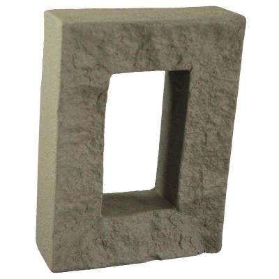 Greystone 7-7/8 in. x 6 in. x 1-7/8 in. Faux Outlet Cover