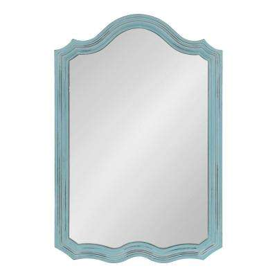 Abrianna Arch Blue Wall Mirror