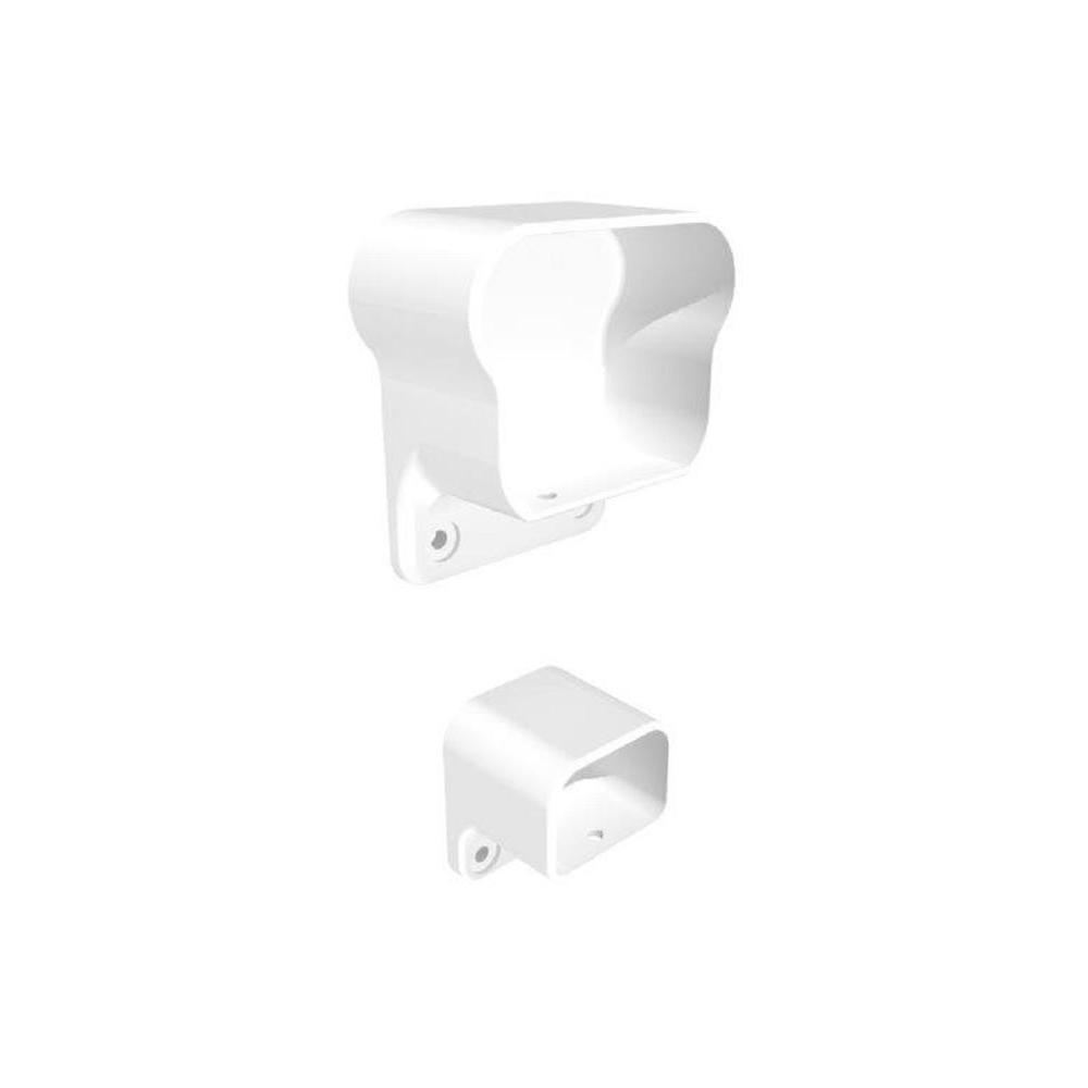 White Fine Textured Aluminum Level Rail Bracket Kit (2-Piece)