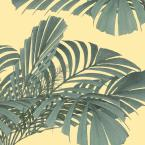 Mitchell Black Debut Collection Floating Palms in Dusty Yellow Removable and Repositionable Wallpaper