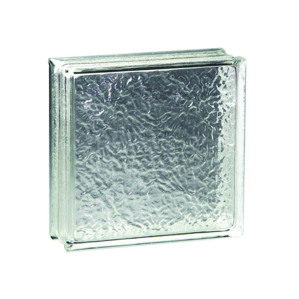 Pittsburgh Corning 8 In X 8 In X 4 In Icescapes Glass