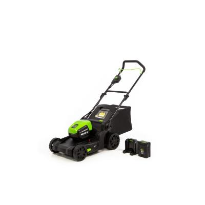 PRO 17 in. 60-Volt Battery Cordless Smart Pace Self-Propelled Lawn Mower with 4.0 Ah Battery and Charger LMC415
