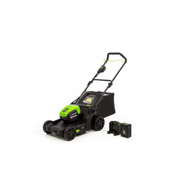 Pro 17 in. 60-Volt Battery Cordless Smart Pace Lawn Mower with 4.0Ah Battery and Charger