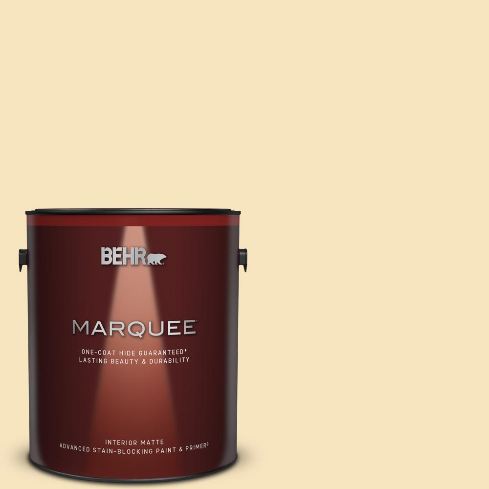 Behr Marquee 1 Gal Home Decorators Collection Hdc Ct 03 Candlewick Matte Interior Paint Primer 145001 The Home Depot