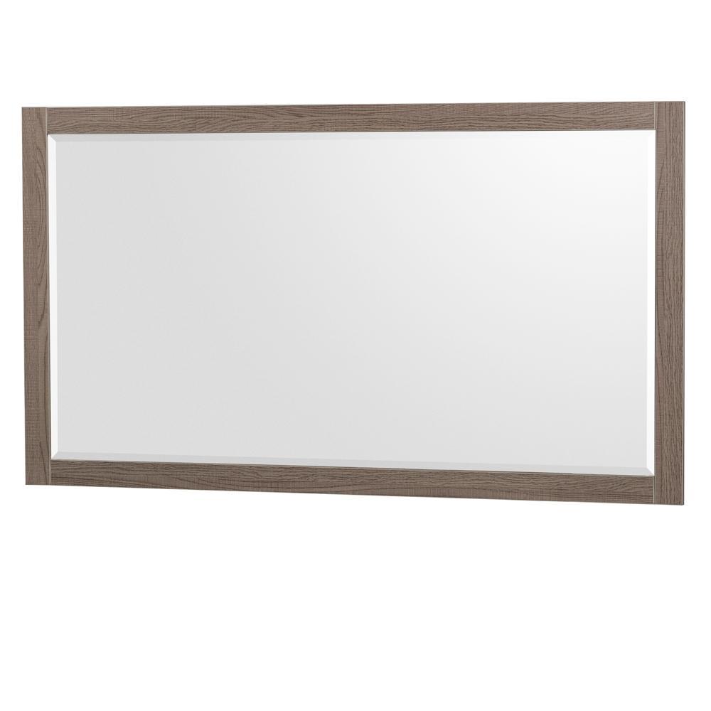 Daniella 58 in. W x 33 in. H Framed Wall Mirror in Gray Oak