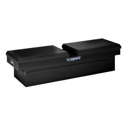 70 in Gloss Black Steel Full Size Crossbed Truck Tool Box with mounting hardware and keys included