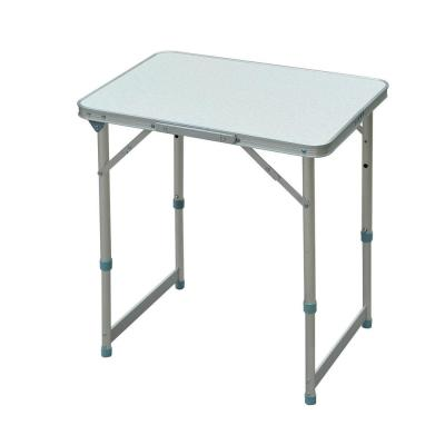 24 in. Aluminum Lightweight Portable Folding Easy Clean Camping Table with Carrying Handle and Height Adjustability