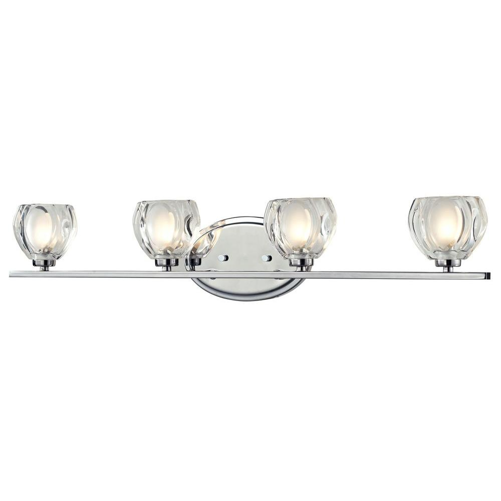 Suave 4-Light Chrome Bath Vanity Light