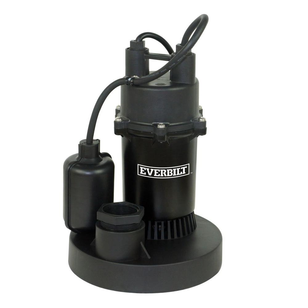1/3 HP Aluminum Submersible Sump Pump with Tether