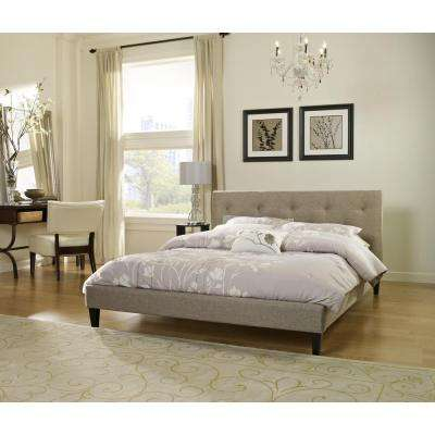 Brentwood Taupe Twin Upholstered Bed