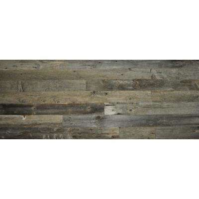 Reclaimed Wood Gray Wood 3/8 in. Thick x 3.5 in. Width x Varying Length Solid Hardwood Wall Planks (20 sq. ft. / case)