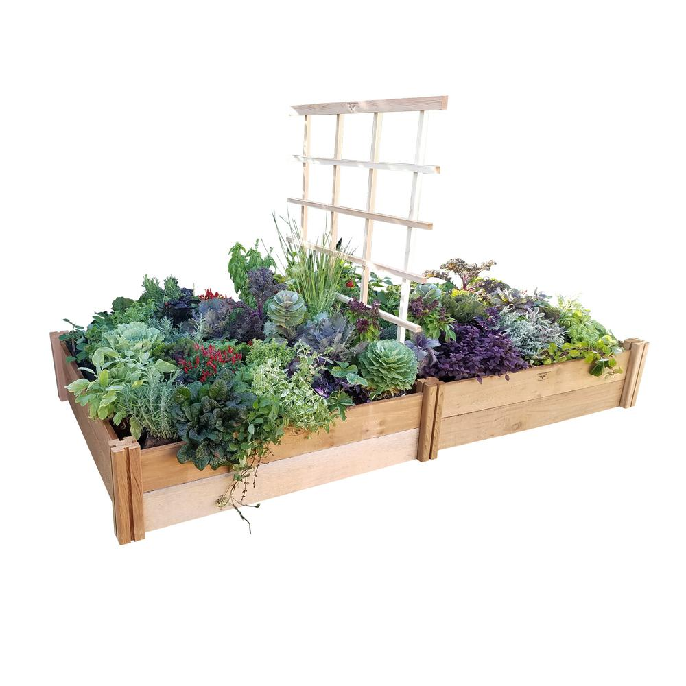 gronomics 48 in x 96 in x 13 in deluxe modular raised garden bed