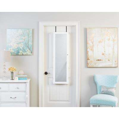 White Mirrored Jewelry Armoire