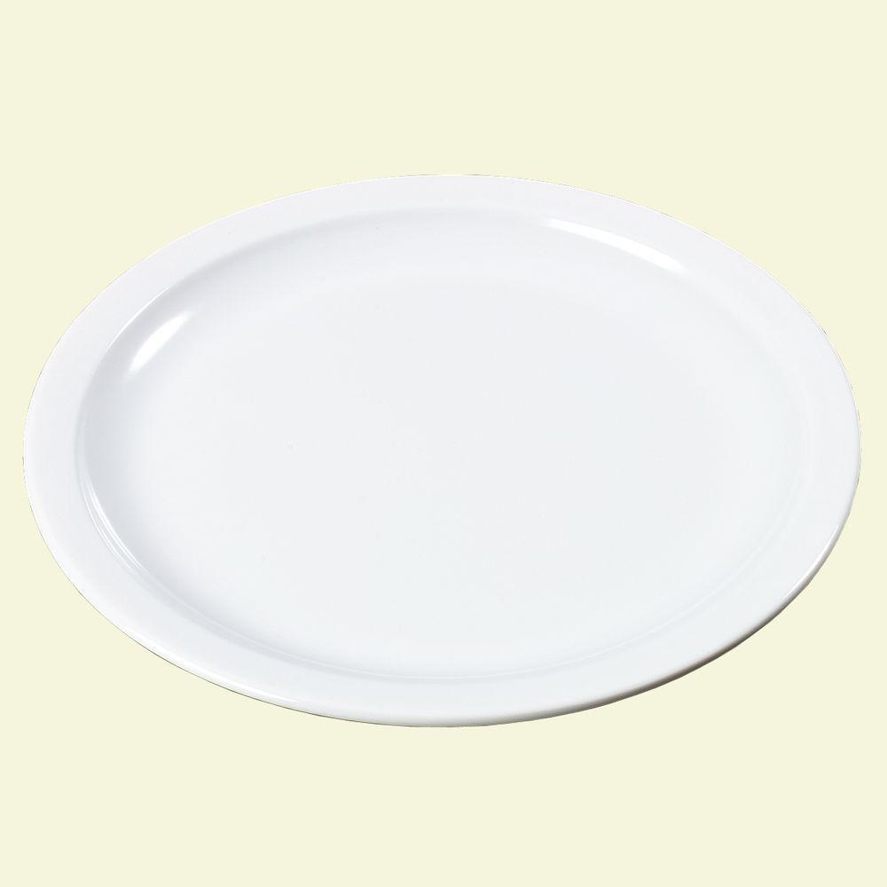 10 in. Diameter Melamine Plate in White (Case of 48)