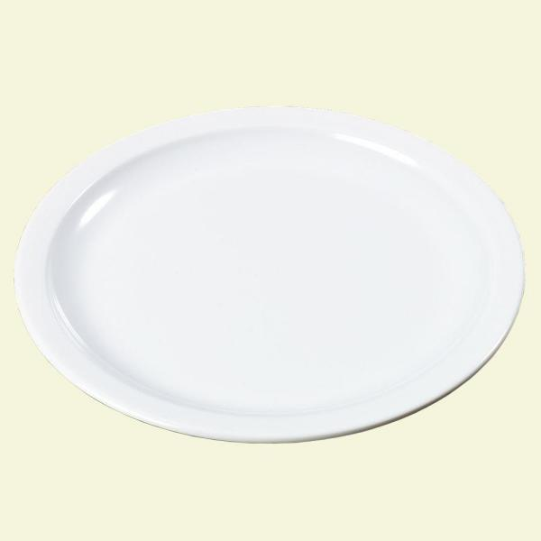 Carlisle 10 in. Diameter Melamine Plate in White (Case of 48)