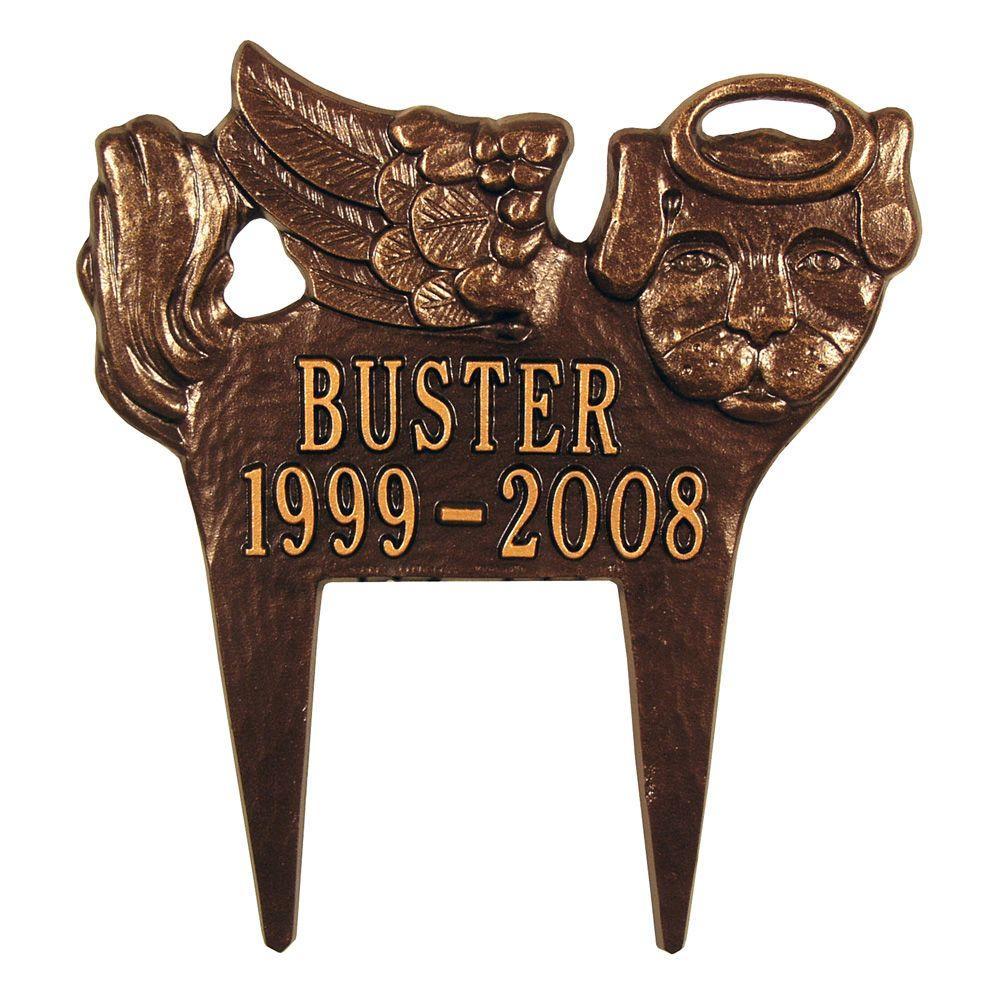 Antique Copper Angel-Dog Pet Memorial
