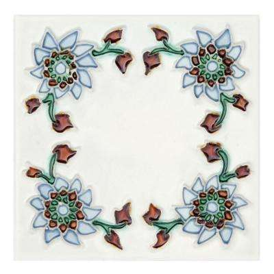 Hand-Painted Primavera Deco 6 in. x 6 in. x 6.35mm Ceramic Wall Tile (2.5 sq. ft. / case)