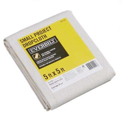 5 ft. x 5 ft. Plastic Backed Canvas Drop Cloth
