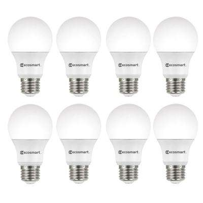 60-Watt Equivalent A19 Non-Dimmable CEC LED Light Bulb, Daylight (8-Pack)